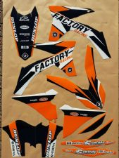 New KTM EXC EXCF XCW 125 250 300 350 450 12-13 Flu PTS4 Graphics Sticker Kit